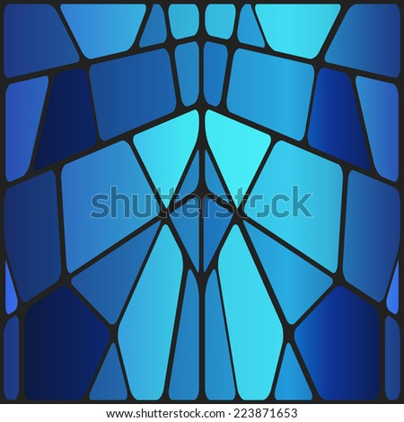 Vector stained glass - stock vector