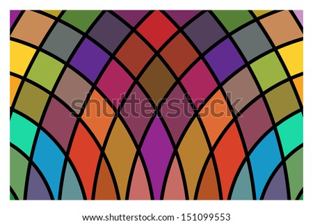 Vector stained-glass window - stock vector