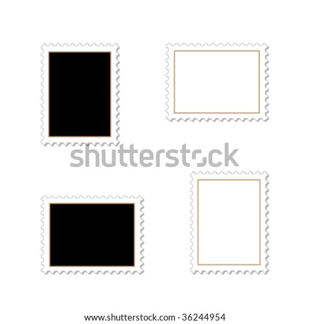 Vector stamps - stock vector