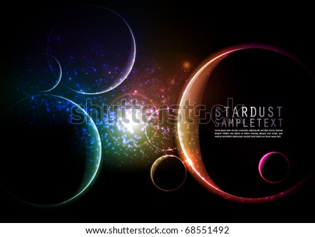 Vector Star Dusts - stock vector