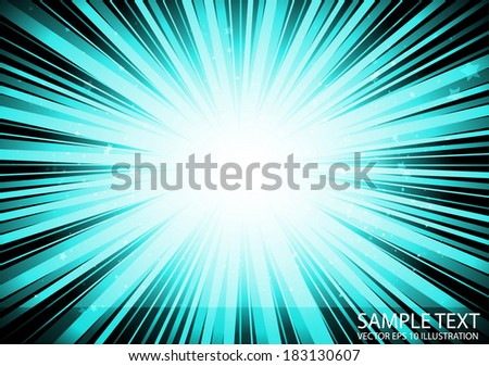Vector  star space blast colorful background - Vector blue burst abstract background illustration - stock vector
