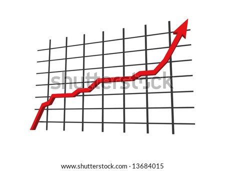vector - statistics - 3d isolated on white background - stock vector
