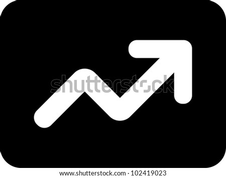 Vector statistics graph icon isolated - stock vector