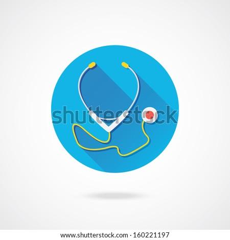 Vector Stethoscope Icon - stock vector