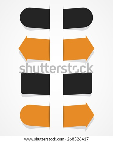 vector sticker for text in flat style. eps10 - stock vector