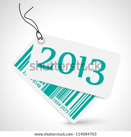 Vector sticker with code - year 2013 - stock vector