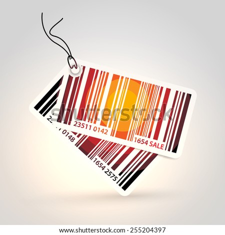 Vector stickers - bar code theme  - stock vector