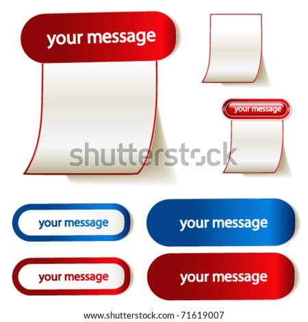 Vector stickers for message - stock vector