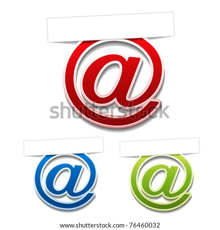 Vector stickers of contact - stock vector