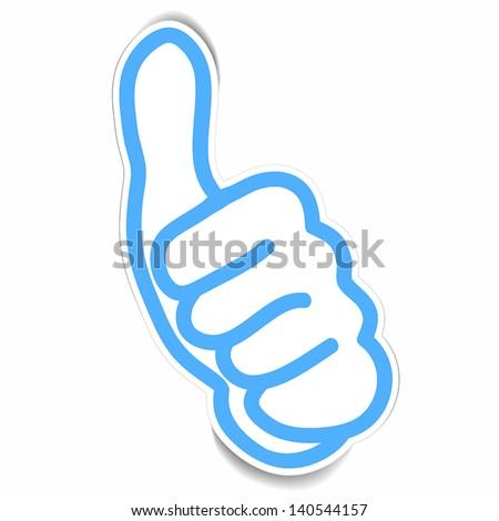 vector stickers of Very good hand gesture - stock vector