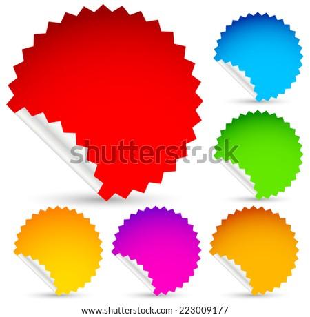 Vector stickers set - stock vector