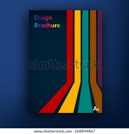 Vector stripes 3d brochure / booklet cover design templates collection A4 - stock vector