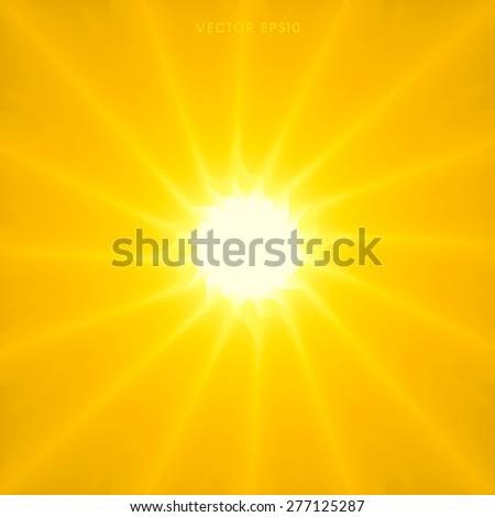 Vector- Stylish Sun Sunburst background - stock vector