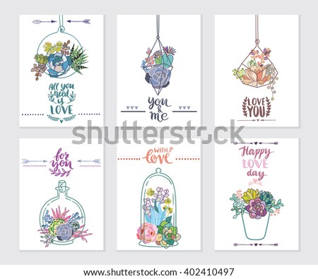 Vector succulent frame. Ideal for invitations, greeting cards, handmade craft items, scrap booking, printed paper items and more - stock vector