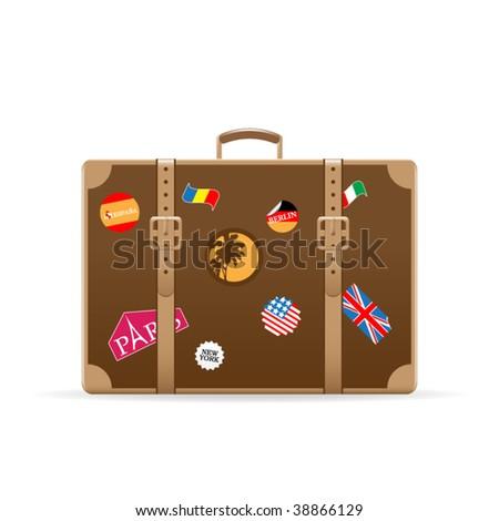 Vector suitcase - stock vector