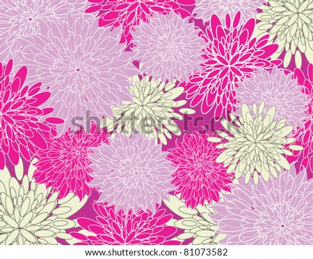 Vector Summer background with flowers - stock vector