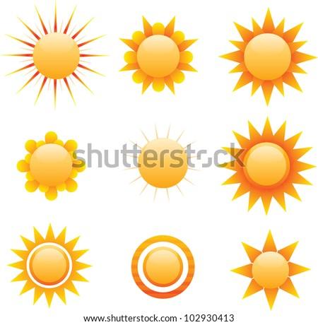 Vector Sun - stock vector