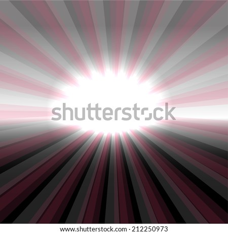 Vector sun on dark background - stock vector