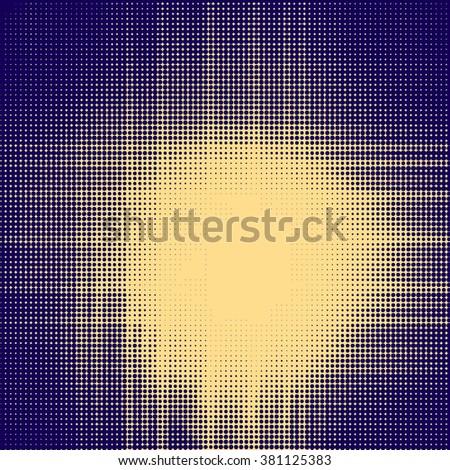 vector sun sunburst abstract background, Halftone effect - stock vector