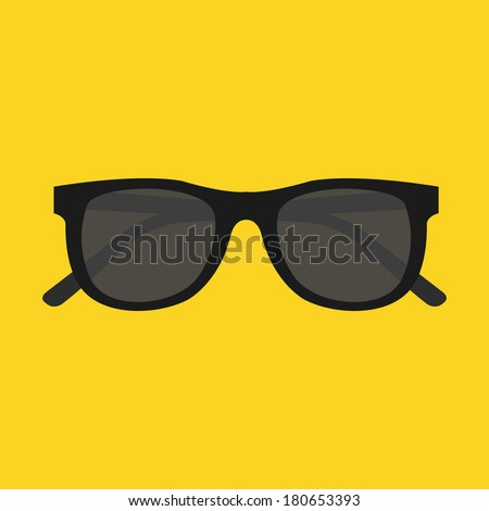 Vector Sunglasses Icon - stock vector