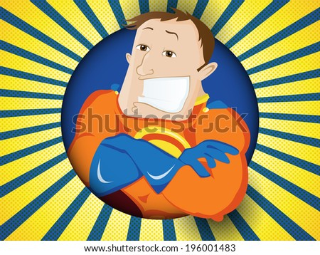 Vector - Super Hero Dad. Happy Fathers Day - stock vector