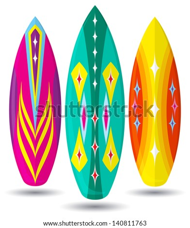 Vector surf boards ( Abstract design )  - stock vector