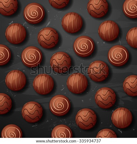 vector sweet chocolate candy background - stock vector