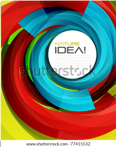 Vector swirl background - stock vector