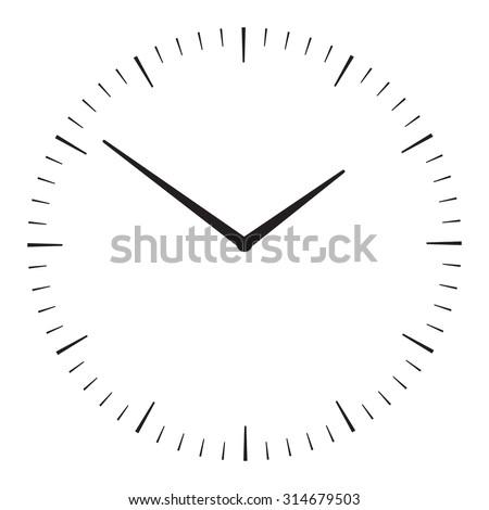 Vector symbol of clock - stock vector