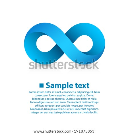 Vector symbol of infinity - stock vector