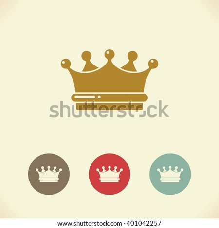Vector symbol of the Royal crown - stock vector