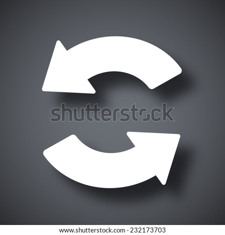 Vector sync and refresh icon - stock vector