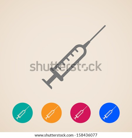 vector syringe icons - stock vector