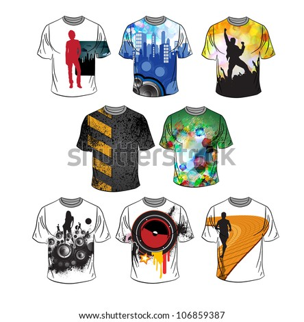 Vector. T-shirt design - stock vector