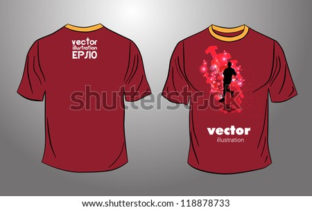 Vector. T-shirt design of sports - stock vector