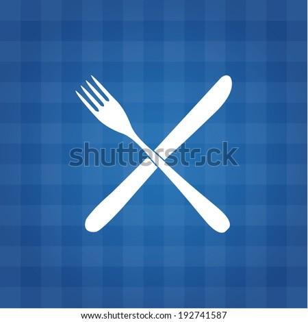 Vector tablecloth background with white thematic emblem.  - stock vector