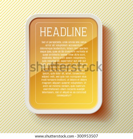 vector tablet frame template - stock vector