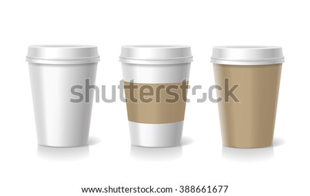 Vector Takeaway  coffee cup  templates  illustration isolated - stock vector
