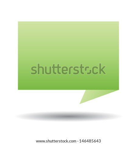 Vector Talk tag on white background  - stock vector