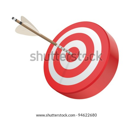 Vector Target and Arrow - stock vector