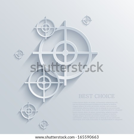 Vector target background. Eps10 - stock vector
