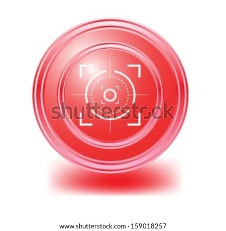 Vector Target Crosshairs,optical sight. - stock vector
