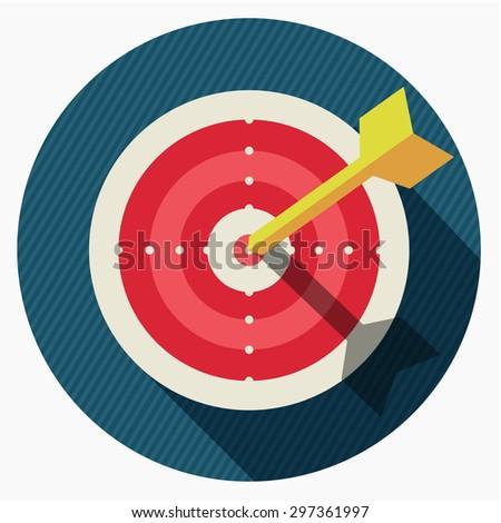 Vector target icon  - stock vector