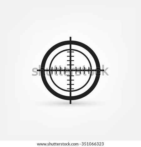 Vector target icon, isolated - stock vector