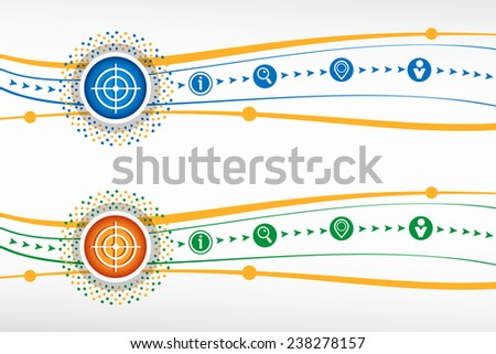 Vector target icon on background for banner, web, site, design, advertising, print, poster. Vector template. - stock vector