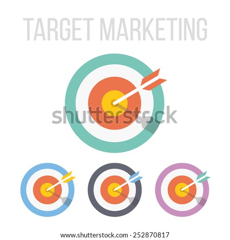 Vector target icons. - stock vector