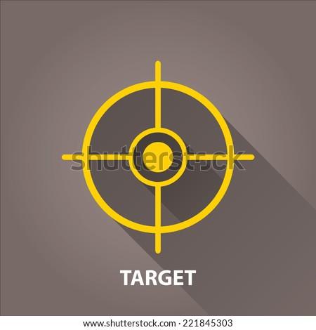 vector target icons . vector flat orange target on grey background. design element for web and logo design - stock vector