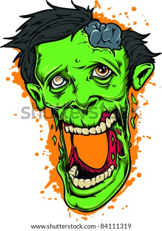 Vector Tattoo Stupid Zombie - stock vector