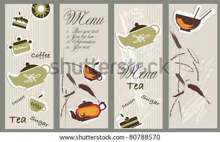 Vector tea and coffee banners - stock vector