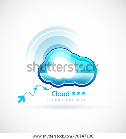 Vector technology cloud - stock vector